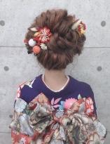 ウェーブの新日本髪