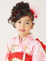お姫様サイドカールアップスタイル