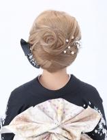 しっとり毛流れのある和髪