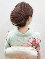 スジ風ルーズな和髪