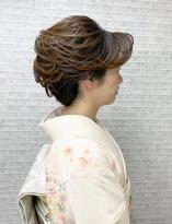 毛筋が映える和髪スタイル