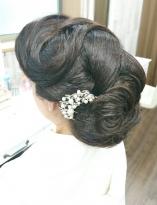 銀座のママ風和髪ヘア