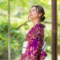 深紫色 竹林