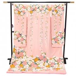 引振袖【W003】ピンク しだれ桜