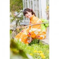 C1745 オレンジ蝶々¥10,000