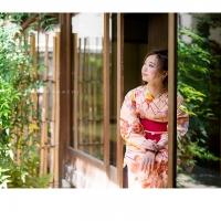 C1831 サーモンピンク 花の丸
