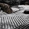 雪の石庭(妙心寺退蔵院)